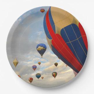 Nevada Hot Air Balloon Races Paper Plate