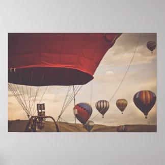 Nevada Hot Air Balloon Races Poster