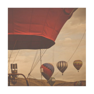 Nevada Hot Air Balloon Races Wood Wall Art