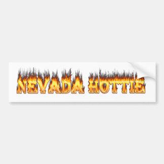 Nevada hottie fire and flames bumper sticker