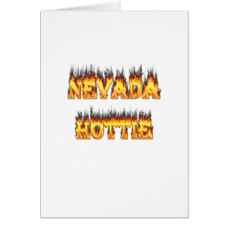 Nevada hottie fire and flames greeting card