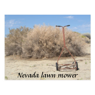 Nevada Lawn Mower Postcard