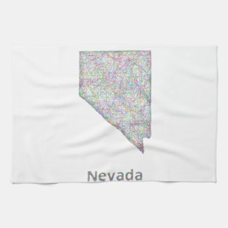 Nevada map tea towel