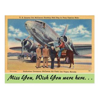 Nevada, McCarran Air Field, Las Vegas Postcard