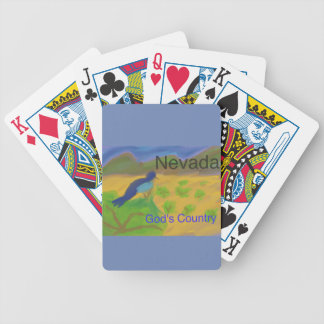 Nevada Mountain Bluebird Poker Playing Cards
