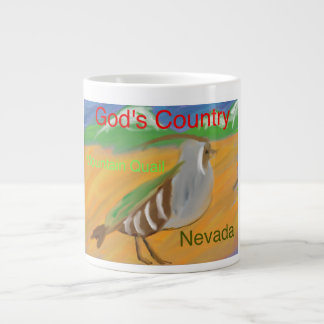 Nevada Mountain Quail Christian Coffee Mug Cup
