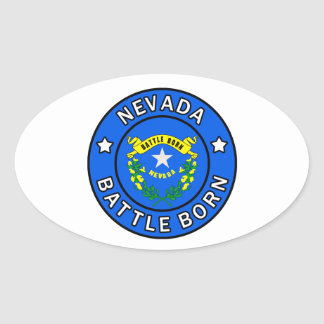 Nevada Oval Sticker