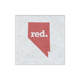 NEVADA RED STATE STONE MAGNET