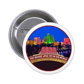 NEVADA Reno 6 Cm Round Badge