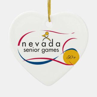 NEVADA SENIOR GAMES LOGOS ON EVERYTHING CERAMIC HEART DECORATION