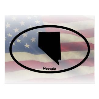 Nevada Silhouette Oval Design Postcard