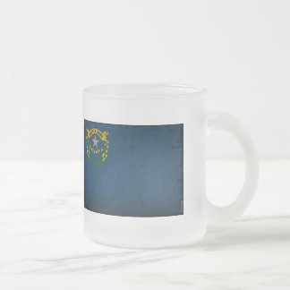 Nevada State Flag VINTAGE.png Frosted Glass Coffee Mug
