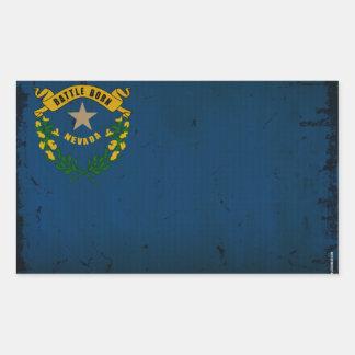 Nevada State Flag VINTAGE.png Rectangular Sticker