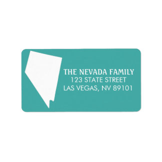 Nevada State Return Address Labels - Turquoise