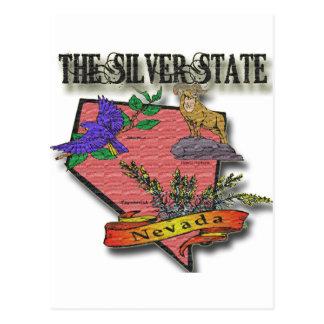 Nevada The Silver State Sagebush Bighorn Bluebird Postcard
