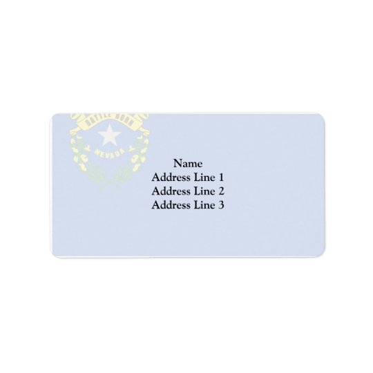 Nevada, United States Address Label