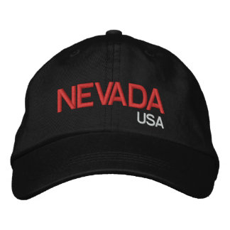 Nevada* USA Black Hat Embroidered Cap