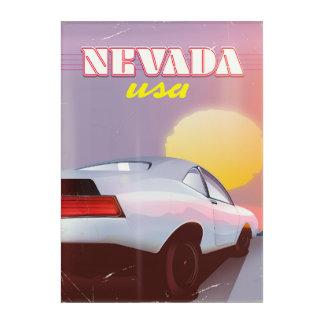 Nevada USA Setting sun sports car Acrylic Wall Art