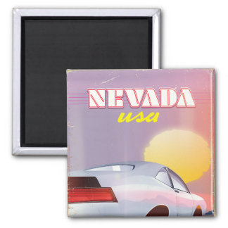 Nevada USA Setting sun sports car Magnet