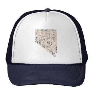 Nevada Vintage Picture Map Cap