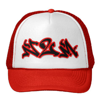 Never2Much red lid Trucker Hat