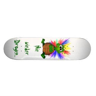 Never again drugs 21.6 cm old school skateboard deck