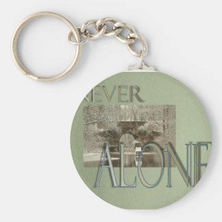 never alone bridge basic round button key ring
