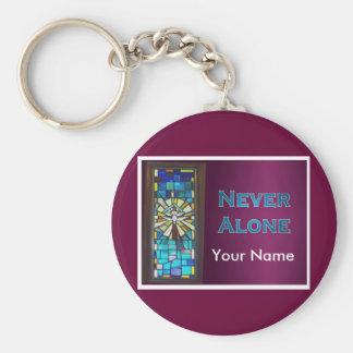 Never Alone Holy Spirit Window Key Ring