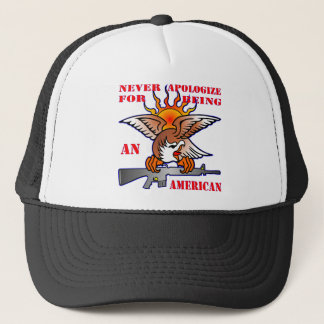 Never Apologize For Being An American AR15 M16 Trucker Hat