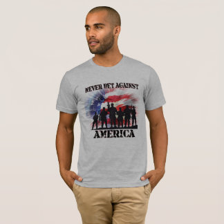 Never Bet Against America Cool and Patriotic T-Shirt