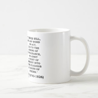 Never Bow To Shrine Of Intolerance Jefferson Quote Coffee Mugs