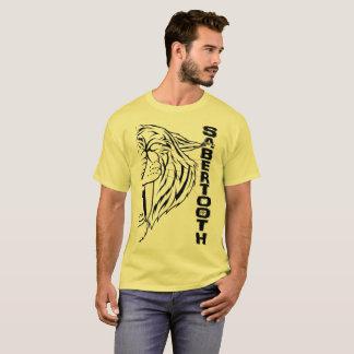 Never Cave range - SABER TOOTH (black) T-Shirt