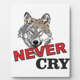 never cry wolf plaque
