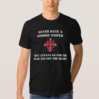 Never Date A Zombie Sniper T-Shirt (Ver 7)