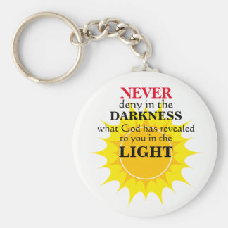 Never Deny in the Darkness Key Ring