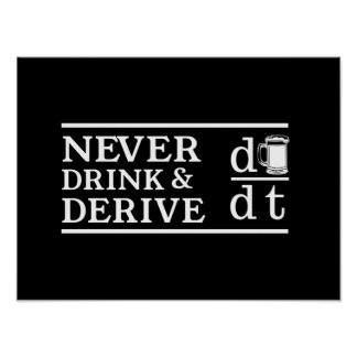 Never Drink and Derive Poster