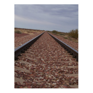 Never Ending Railroad Tracks Postcard