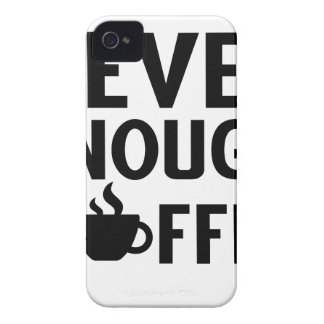 NEVER ENOUGH COFFEE iPhone 4 COVER