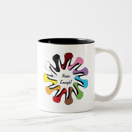 Never Enough Shoes (customizable) Coffee Mug