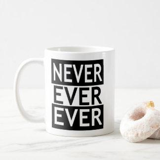 Never Ever Ever Coffee Mug