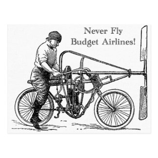 Never Fly Budget Airlines Postcard