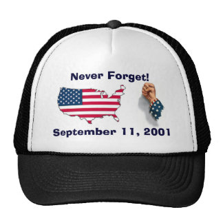 Never Forget 911 Memorial Hat