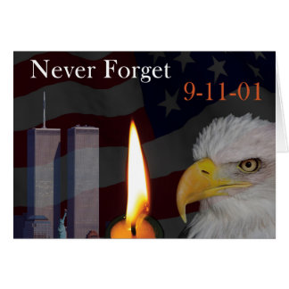 Never Forget 9-11-01 Card