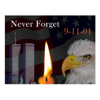 Never Forget 9-11-01 Postcard
