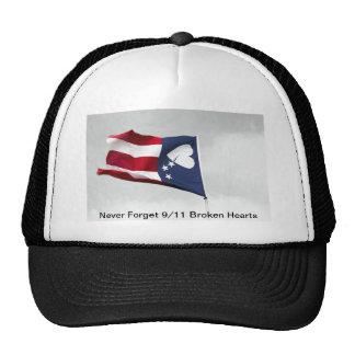 Never Forget 9/11 Broken Hearts Cap