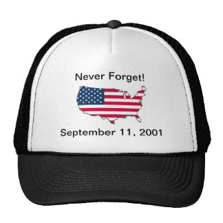 Never Forget 9/11 Memorial Hat