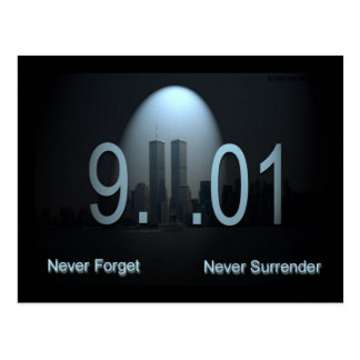 Never Forget 9/11 Postcard