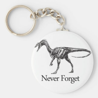 Never Forget Basic Round Button Key Ring