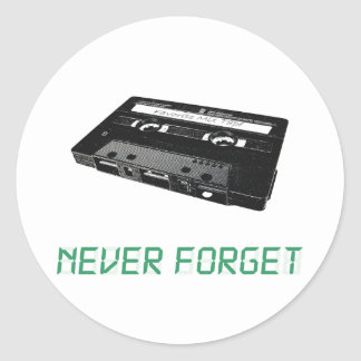 Never Forget Classic Round Sticker
