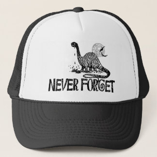 Never Forget Dinosaur Trucker Hat
